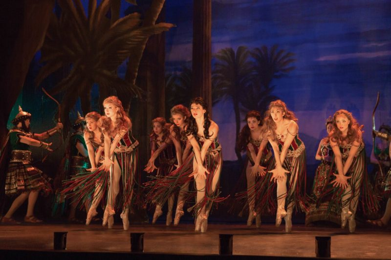 The ballet ensemble of the upcoming opera, Hannibal, perform a dance from the opera during a dress rehearsal.